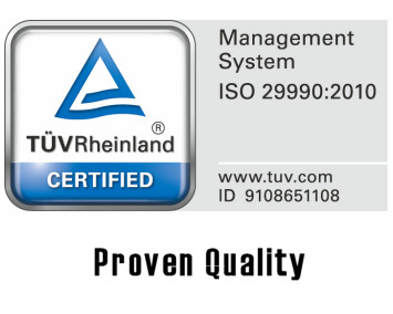 DIN ISO 29990 Prooven Quality